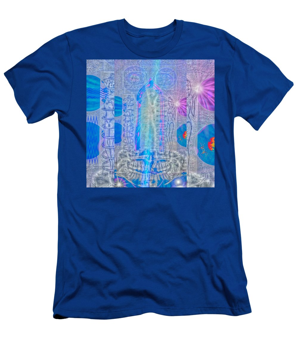 Surreal Men's T-Shirt (Athletic Fit) featuring the digital art Electric Girls Squared by J Huber