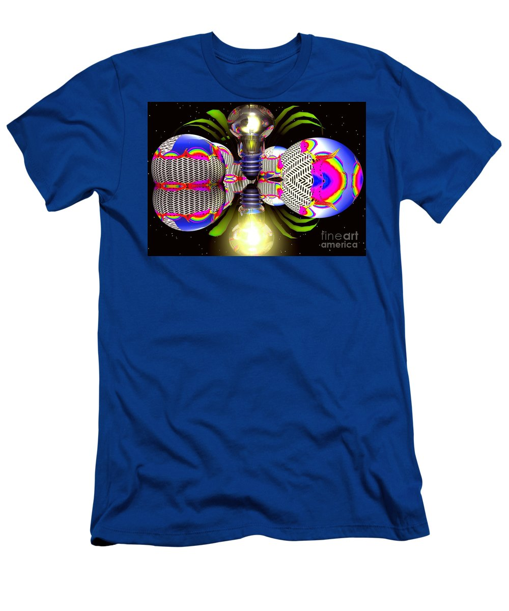 Sphere Men's T-Shirt (Athletic Fit) featuring the digital art Element Of Suprise by Robert Orinski