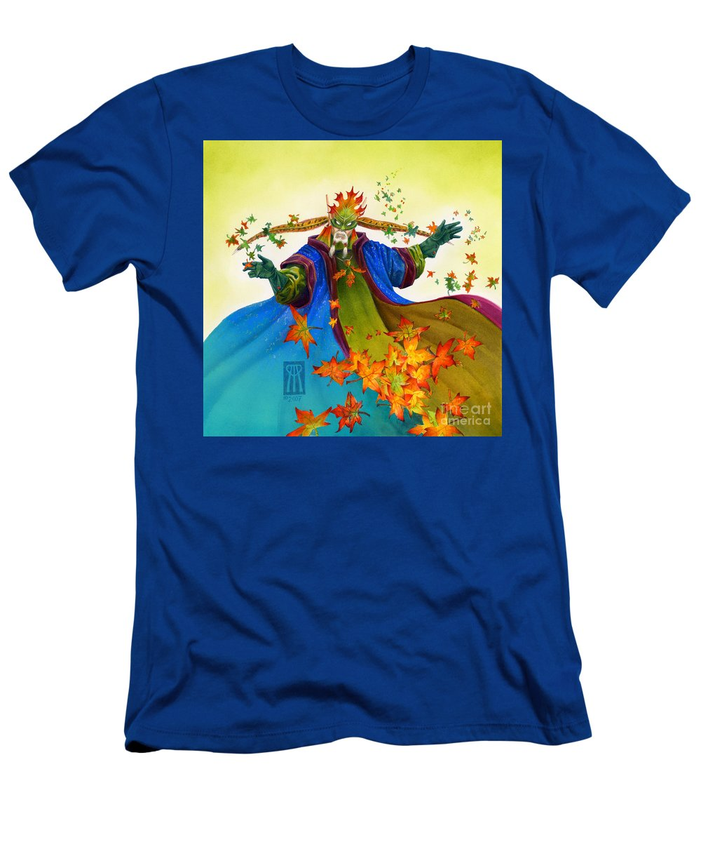 Elf Men's T-Shirt (Athletic Fit) featuring the painting Elven Mage by Melissa A Benson