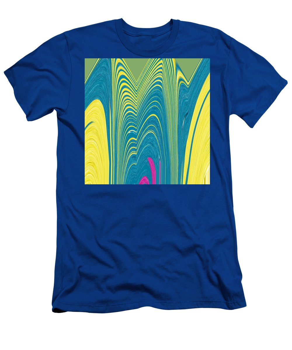 Abstract Men's T-Shirt (Athletic Fit) featuring the digital art Exloring The Heart Of The Flower by Lenore Senior