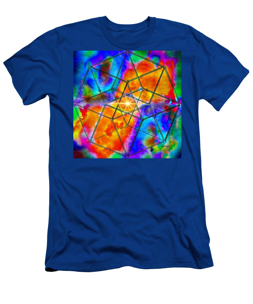 Extreme Men's T-Shirt (Athletic Fit) featuring the painting Dyson Sphere by Don Barrett