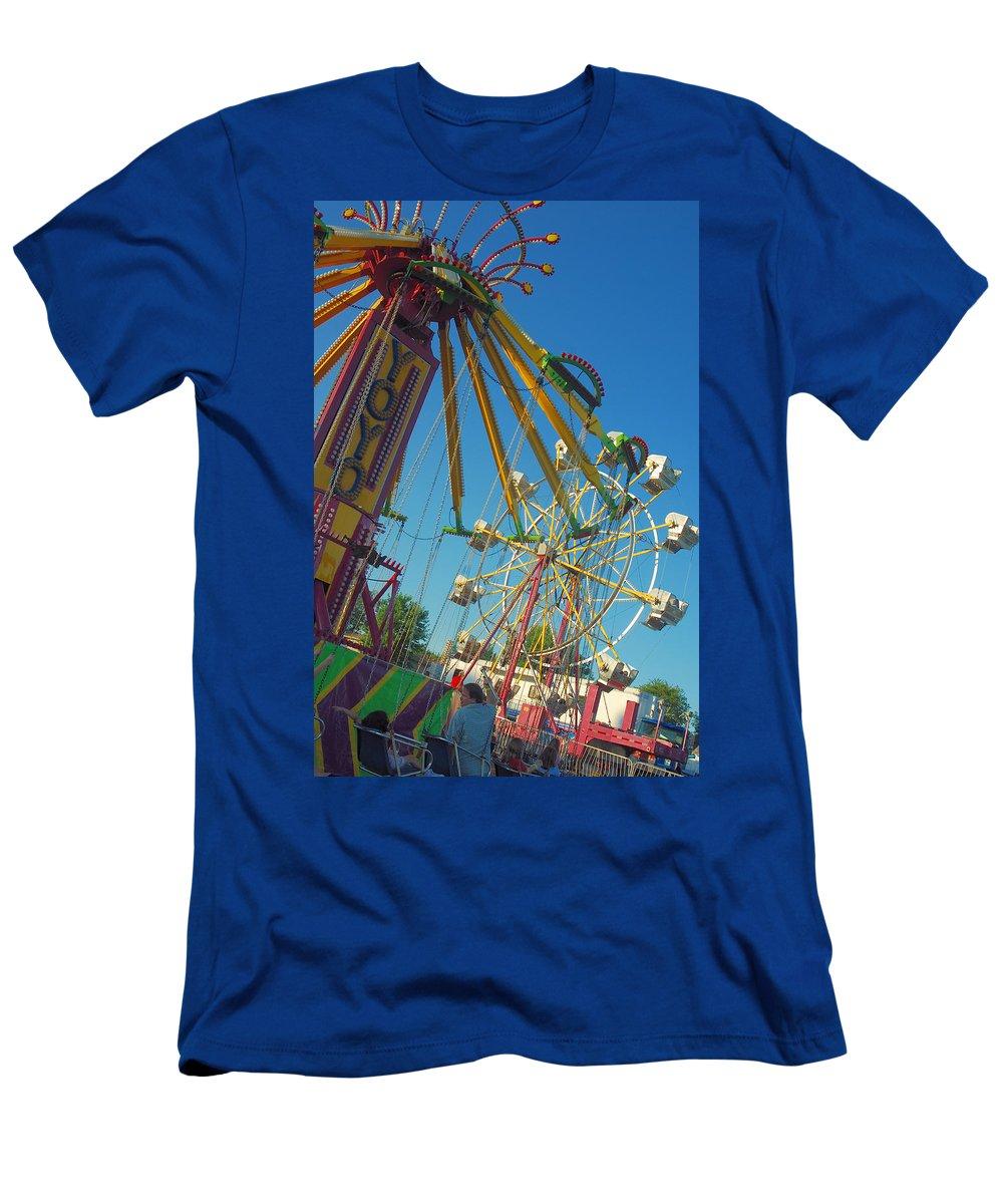 Color Men's T-Shirt (Athletic Fit) featuring the photograph Fair Fun by Trish Hale