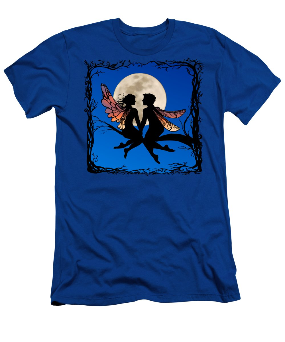 Fairy Men's T-Shirt (Athletic Fit) featuring the digital art Fairy Couple by Katherine Nutt