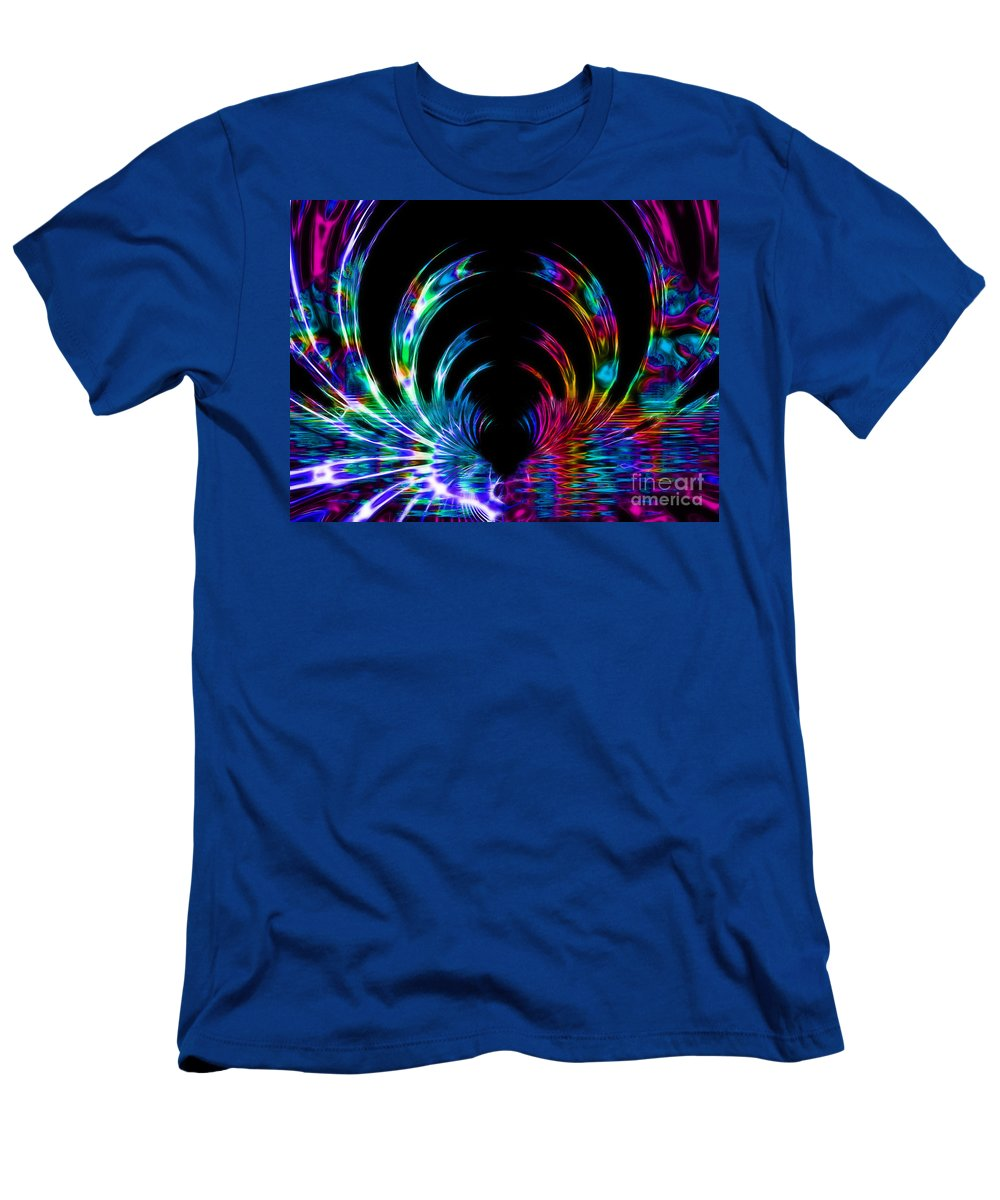 Rainbow Men's T-Shirt (Athletic Fit) featuring the digital art Fantasy Tunnel by Tracey Everington