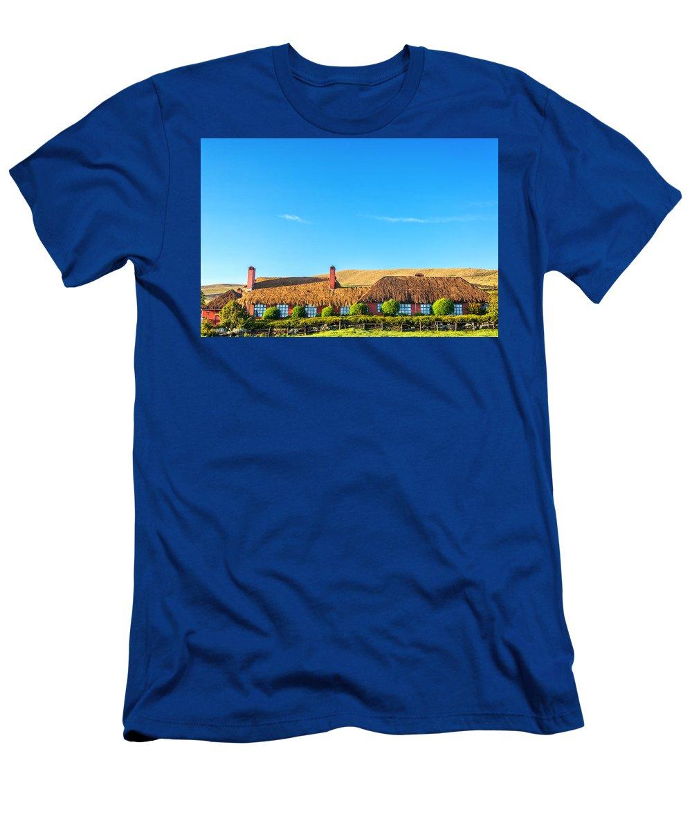 Ecuador Men's T-Shirt (Athletic Fit) featuring the photograph Farmhouse In Ecuador by Jess Kraft