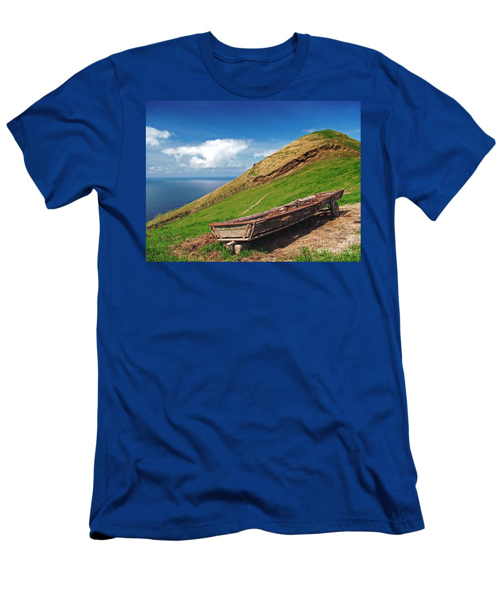 Europe Men's T-Shirt (Athletic Fit) featuring the photograph Farming In Azores Islands by Gaspar Avila