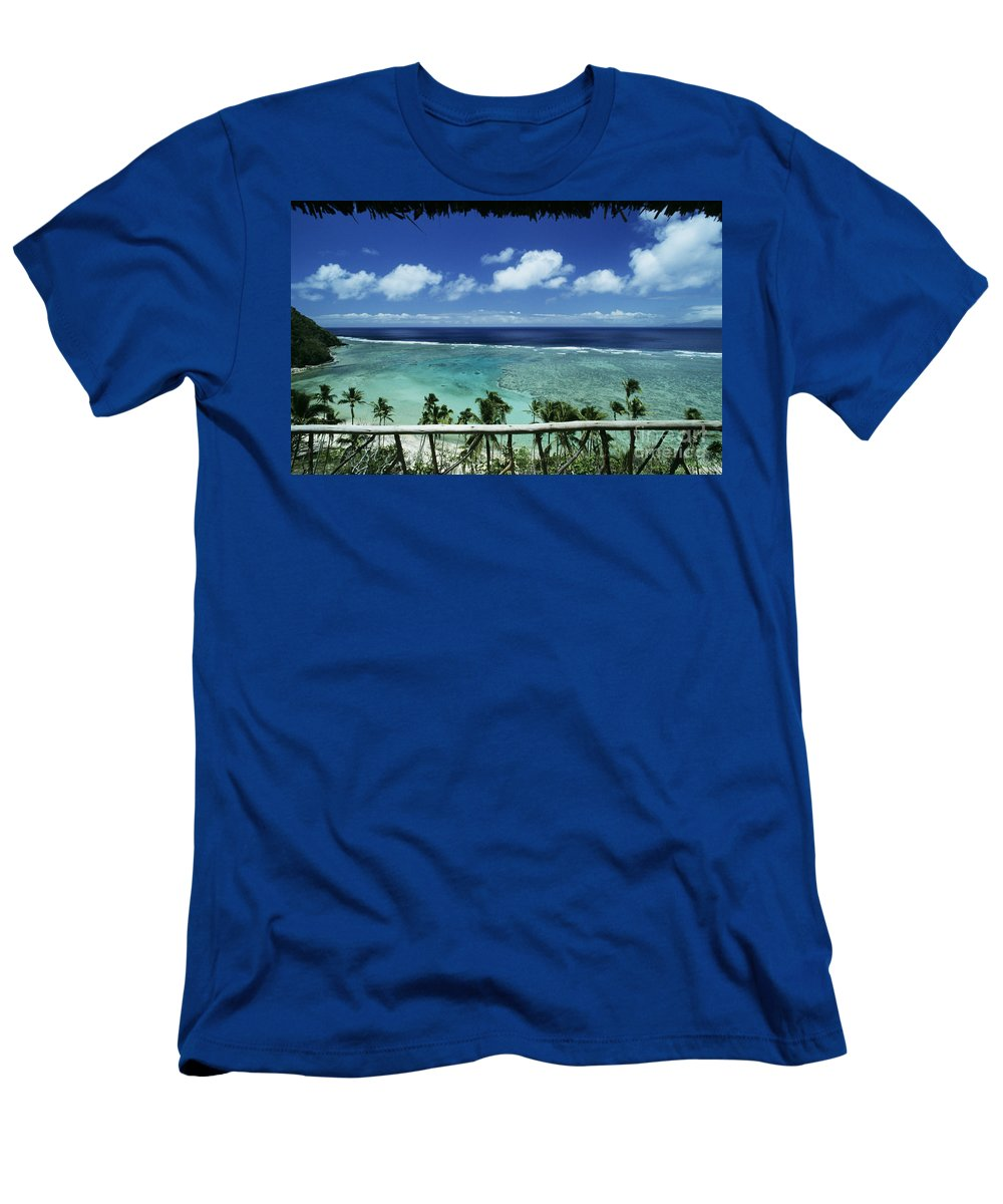 Architecture Men's T-Shirt (Athletic Fit) featuring the photograph Fiji, Wakaya Island by Larry Dale Gordon - Printscapes