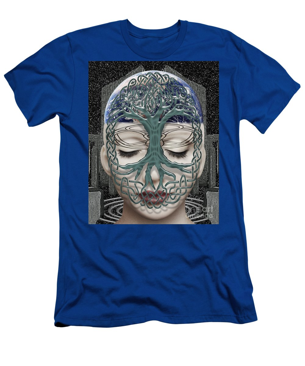 Surreal Men's T-Shirt (Athletic Fit) featuring the digital art Fildais Celtic Goddess by Keith Dillon