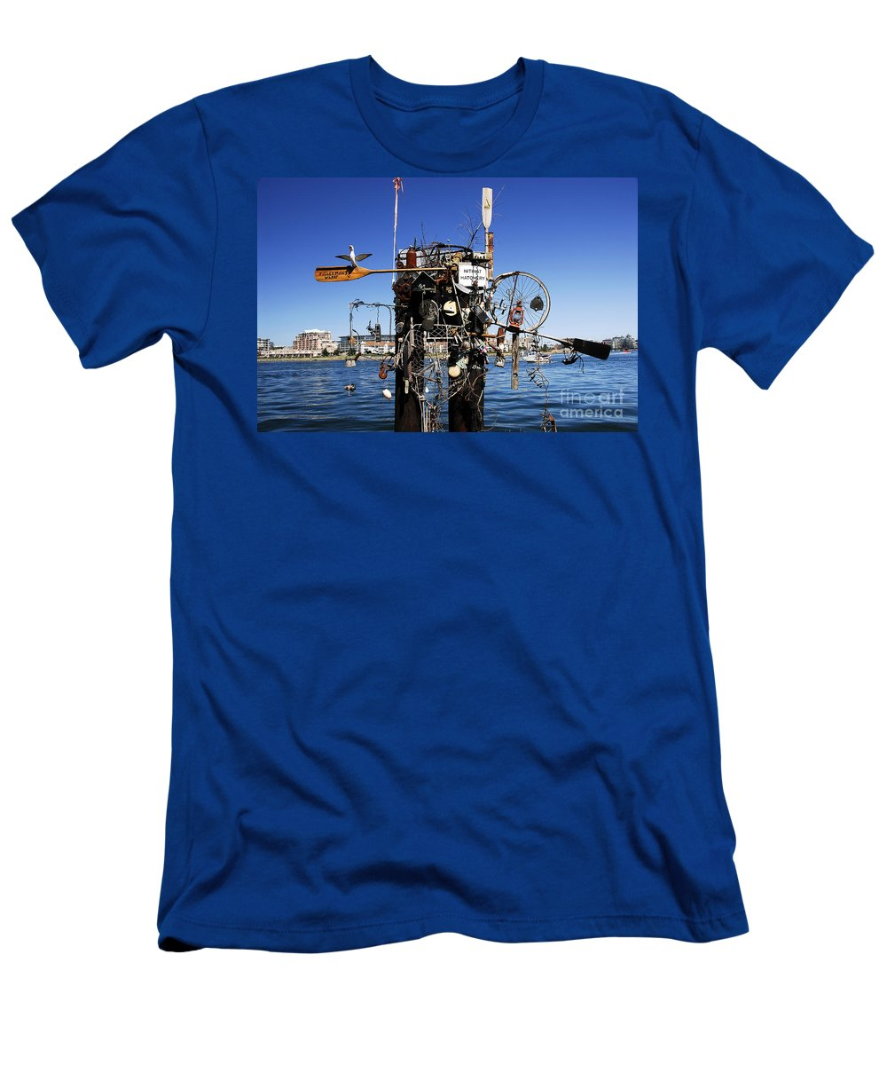 Fisherman Men's T-Shirt (Athletic Fit) featuring the photograph Fisherman's Wharf by David Lee Thompson