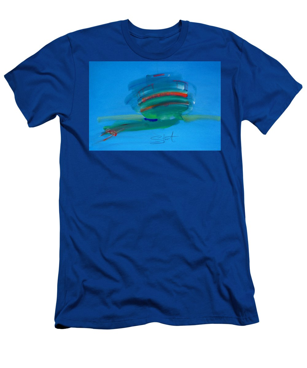 Fishing Boat Men's T-Shirt (Athletic Fit) featuring the painting Fishing Boat Hastings by Charles Stuart