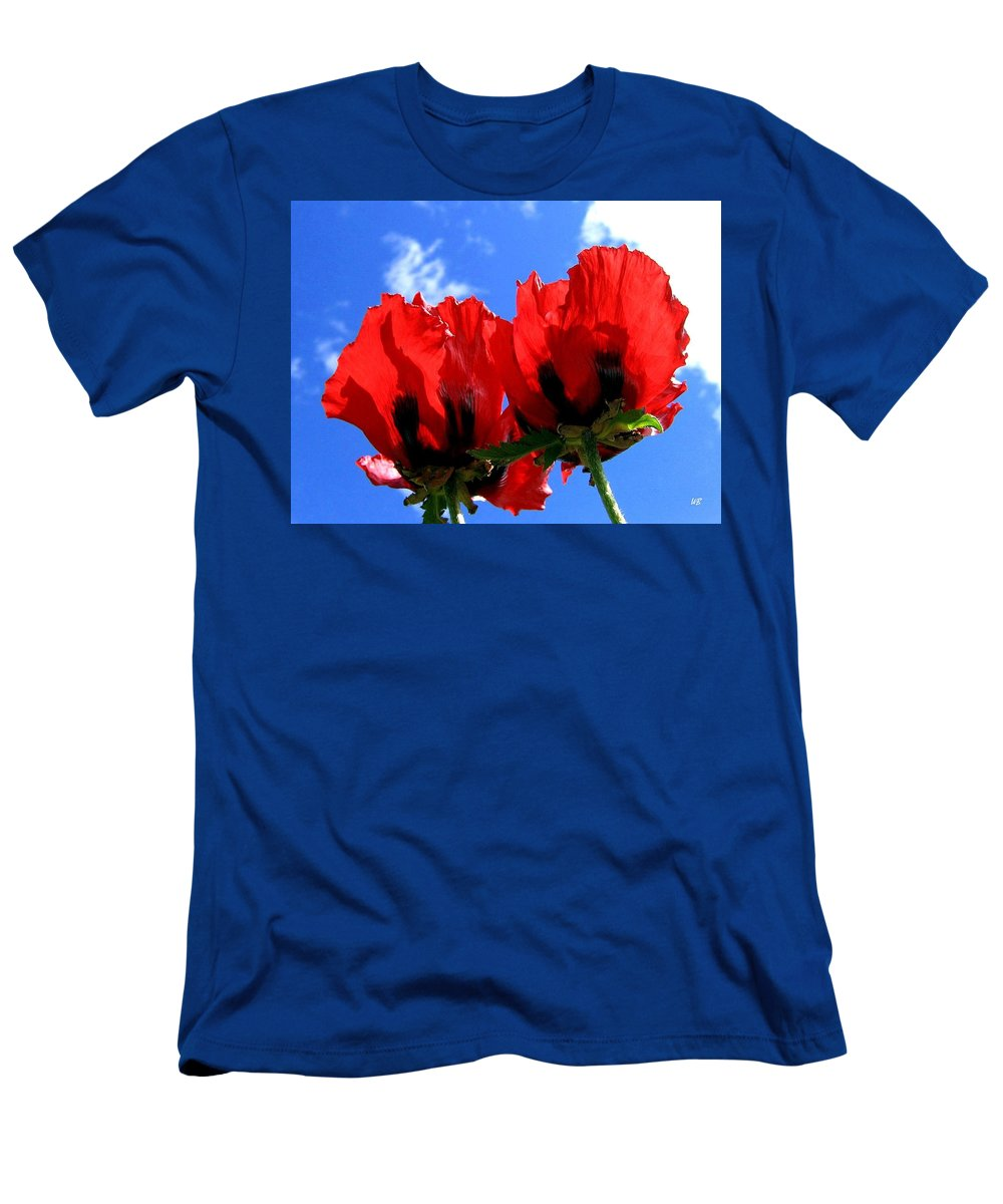 Blue Men's T-Shirt (Athletic Fit) featuring the photograph Flaming Skies by Will Borden