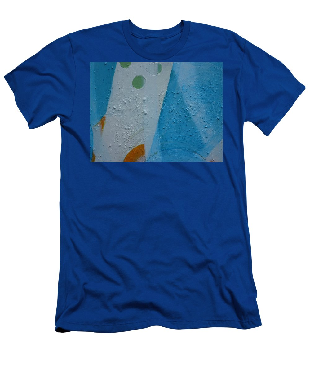 Abstract-modern-minimalist-blue Paintings Men's T-Shirt (Athletic Fit) featuring the painting Flow 1 by Rita Scarpelli