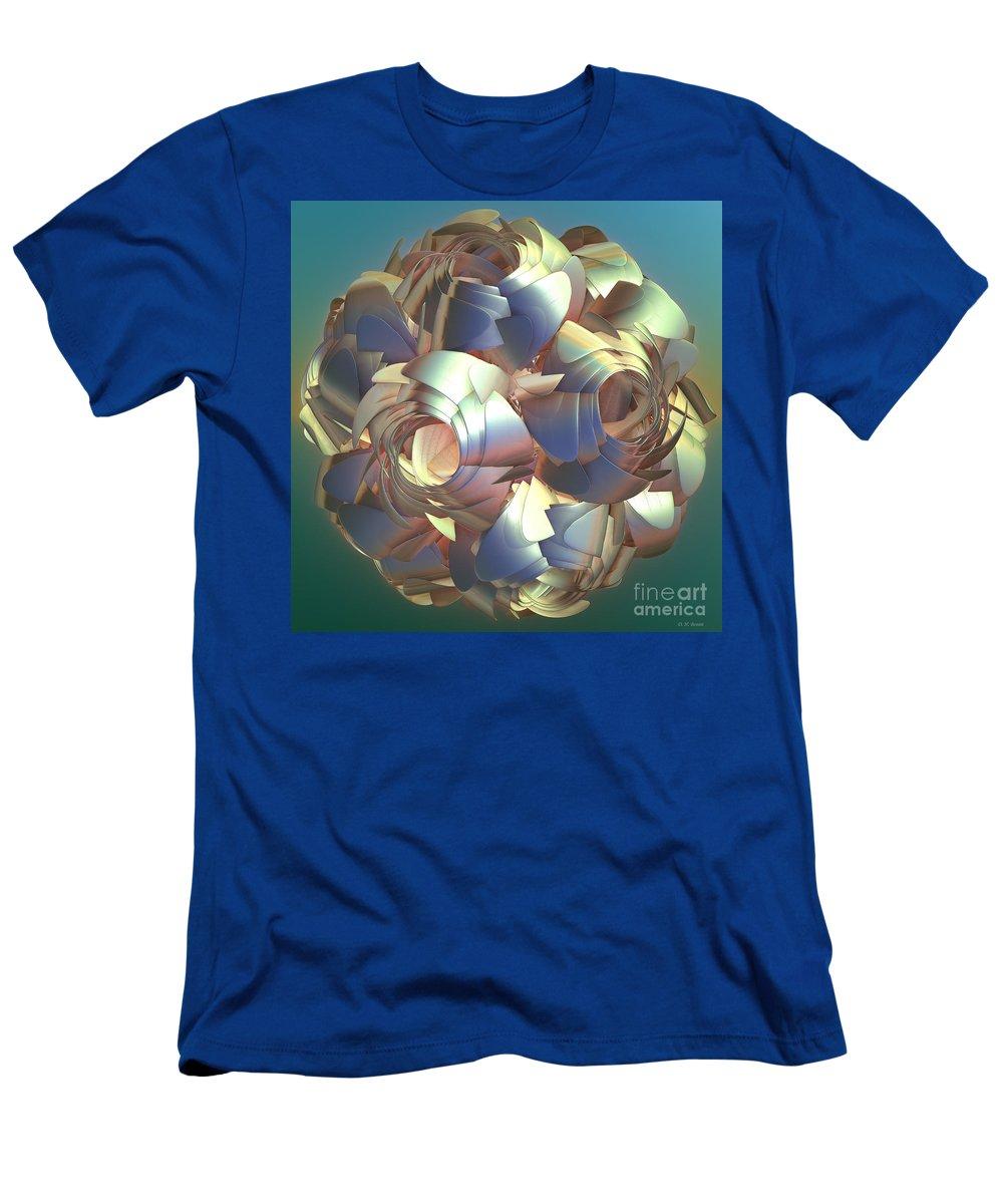 Digital Men's T-Shirt (Athletic Fit) featuring the digital art Flower Globe by Deborah Benoit