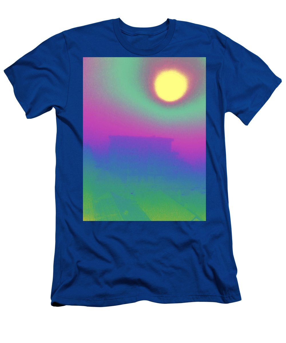 Abstract Men's T-Shirt (Athletic Fit) featuring the digital art Foggy Day by Tim Allen
