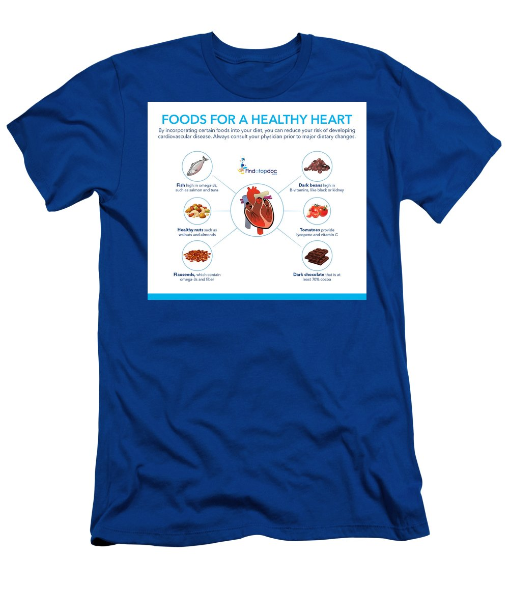 Food Men's T-Shirt (Athletic Fit) featuring the photograph Foods For A Healthy Heart by FindaTopDoc