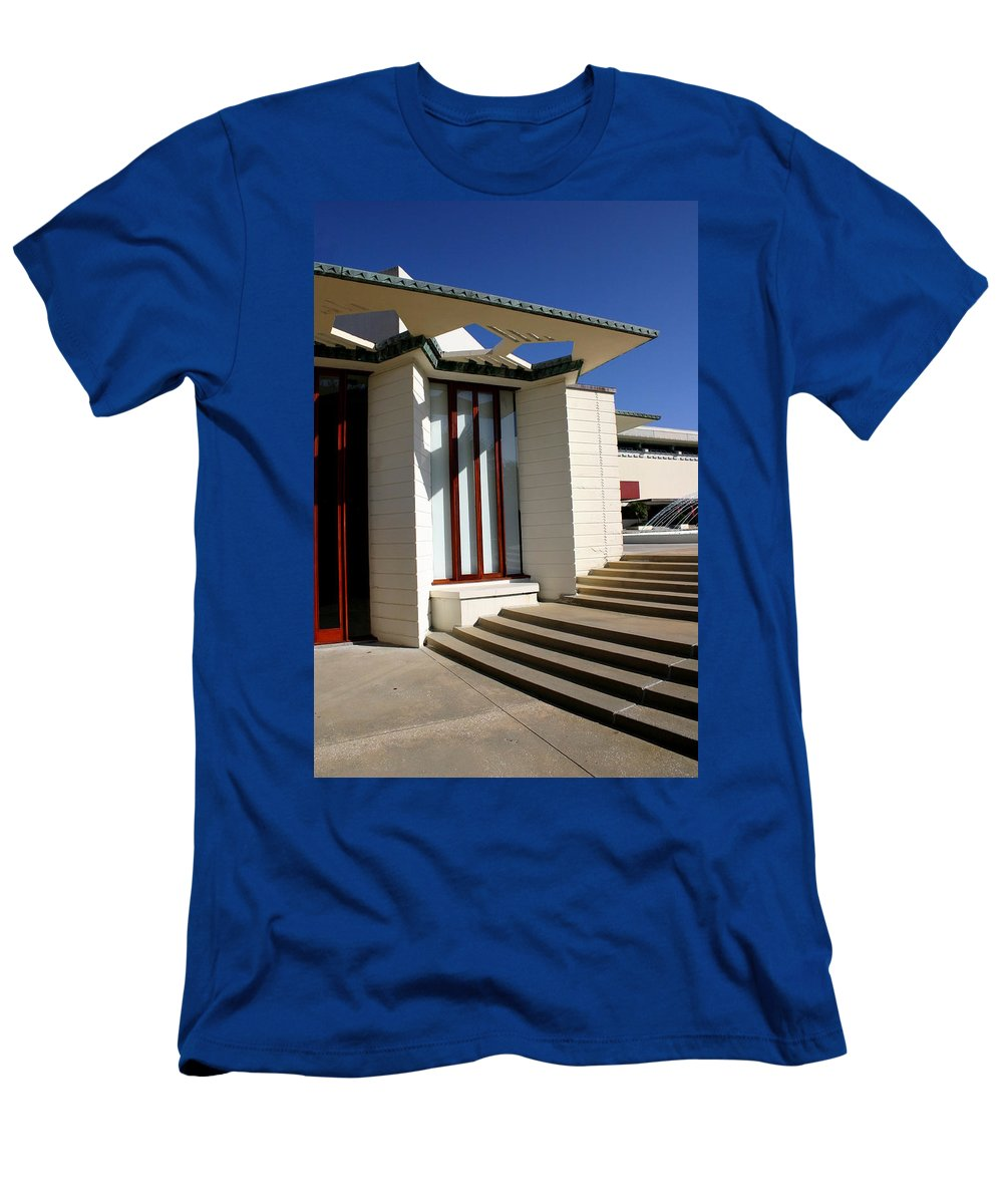Frank Lloyd Wright Men's T-Shirt (Athletic Fit) featuring the photograph For The Love Of Architecture 02 by Remmy Ar'emen