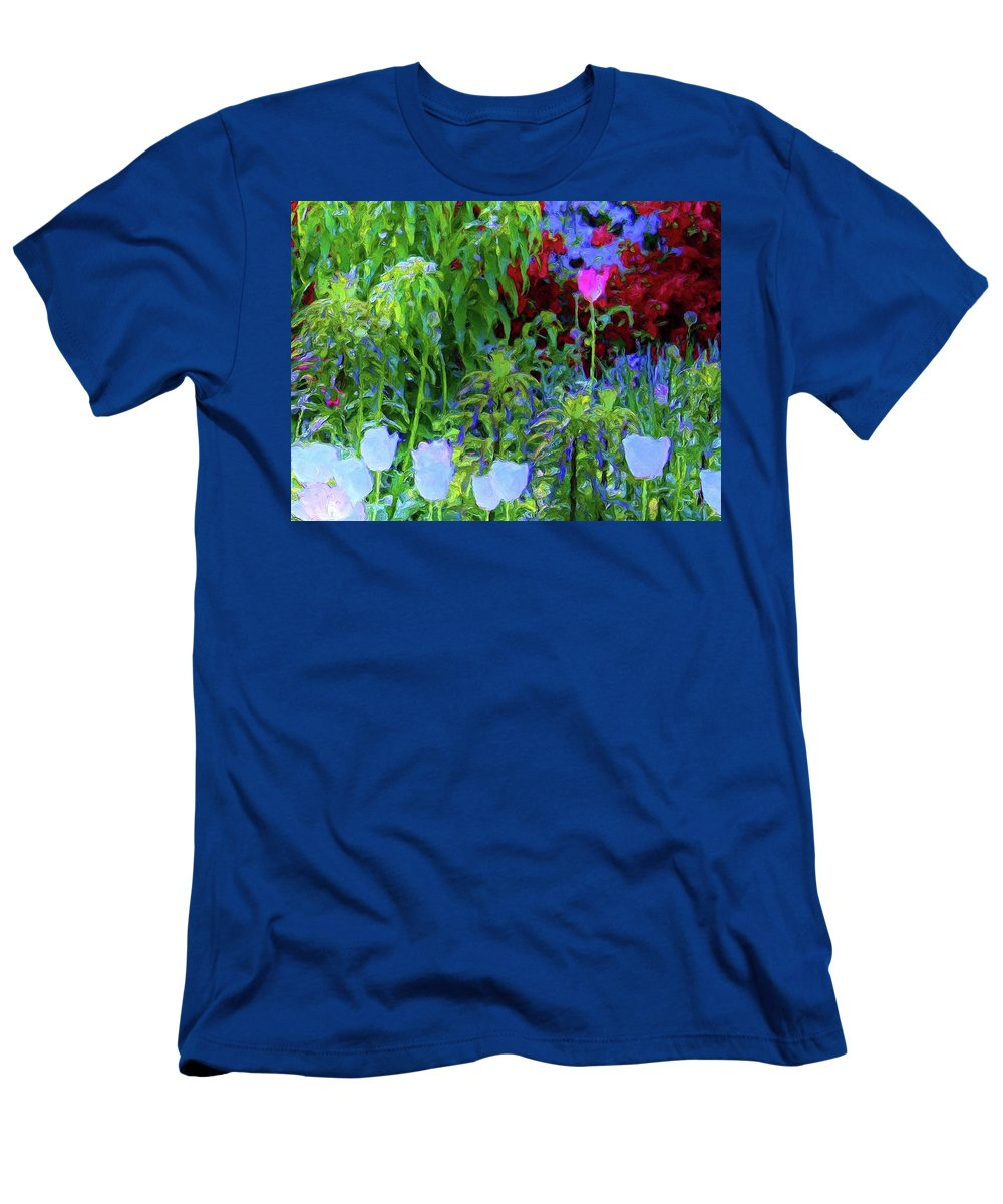 Nature Men's T-Shirt (Athletic Fit) featuring the painting Forest Flowers Different One by Susanna Katherine