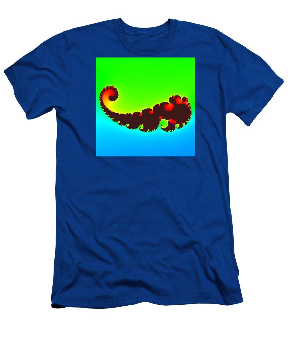 Abstract Men's T-Shirt (Athletic Fit) featuring the digital art Fractal Trilobite Animal by Miroslav Nemecek