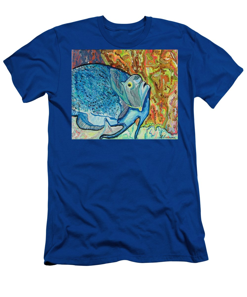 French Men's T-Shirt (Athletic Fit) featuring the painting French Angle Fish by Heather Lennox