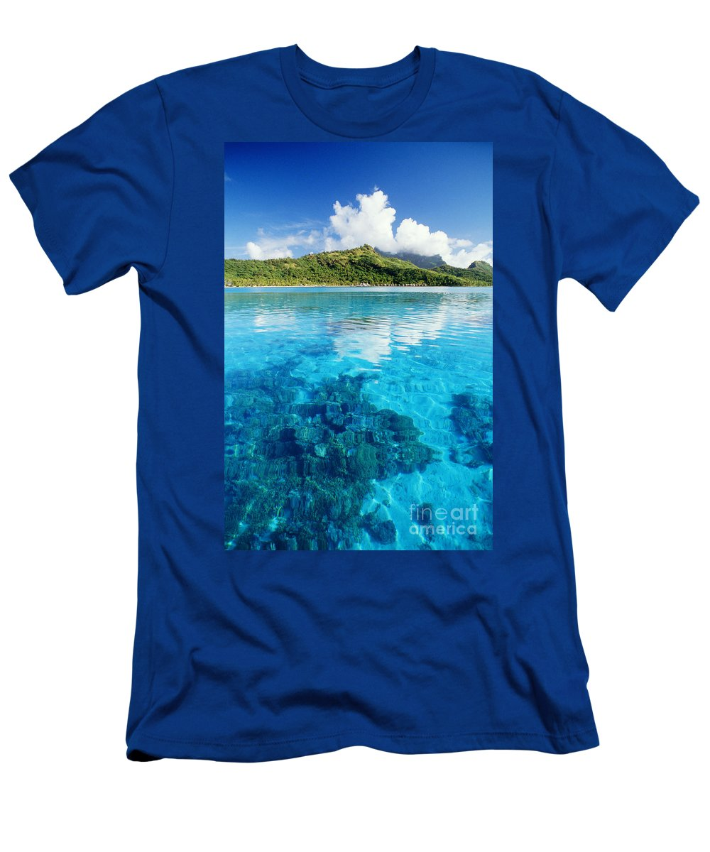 Afternoon Men's T-Shirt (Athletic Fit) featuring the photograph French Polynesia, View by Joe Carini - Printscapes