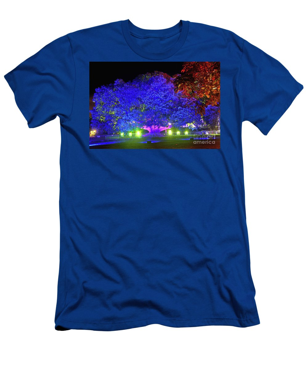Garden Of Light Men's T-Shirt (Athletic Fit) featuring the photograph Garden Of Light By Kaye Menner by Kaye Menner