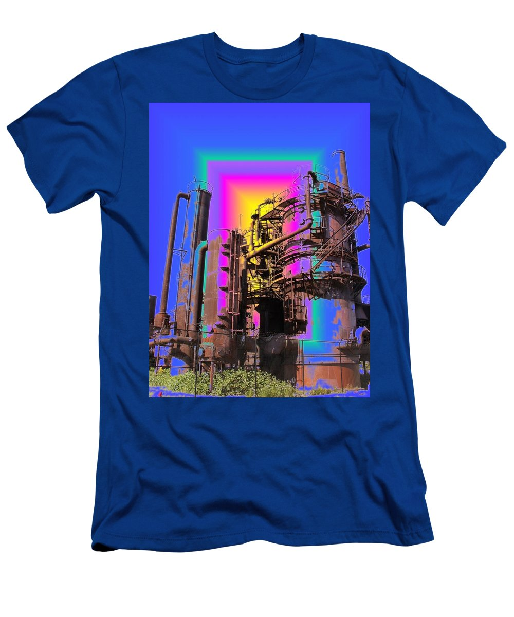 Seatttle Men's T-Shirt (Athletic Fit) featuring the digital art Gasworks Park 2 by Tim Allen