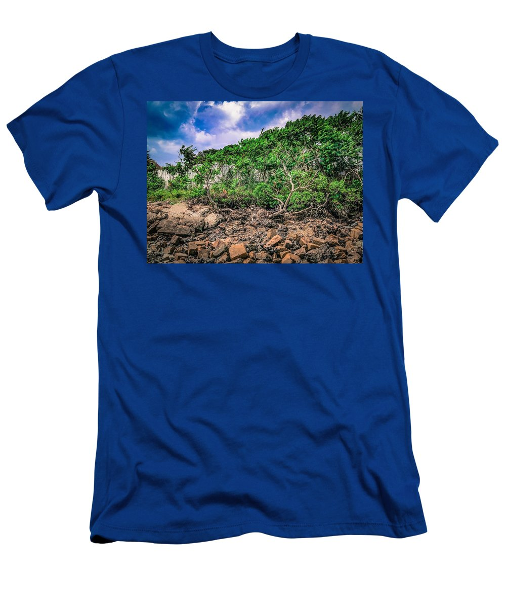 Bushes And Trees Men's T-Shirt (Athletic Fit) featuring the photograph Gathering Storm by Mark Sellers