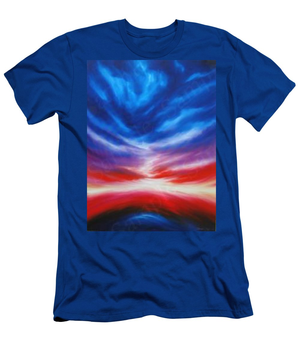 Tempest Men's T-Shirt (Athletic Fit) featuring the painting Genesis IIi by James Christopher Hill