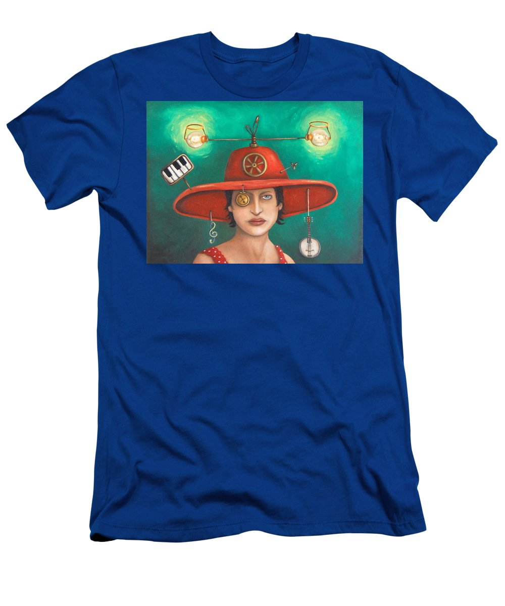 Piano Men's T-Shirt (Athletic Fit) featuring the painting Gizmo 7 by Leah Saulnier The Painting Maniac