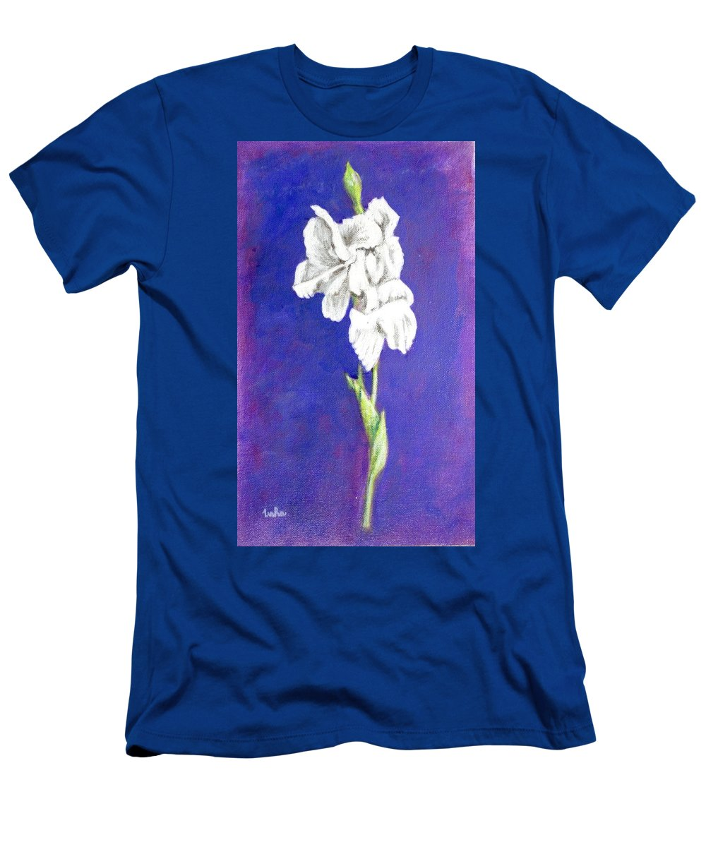 Men's T-Shirt (Athletic Fit) featuring the painting Gladiolus 2 by Usha Shantharam