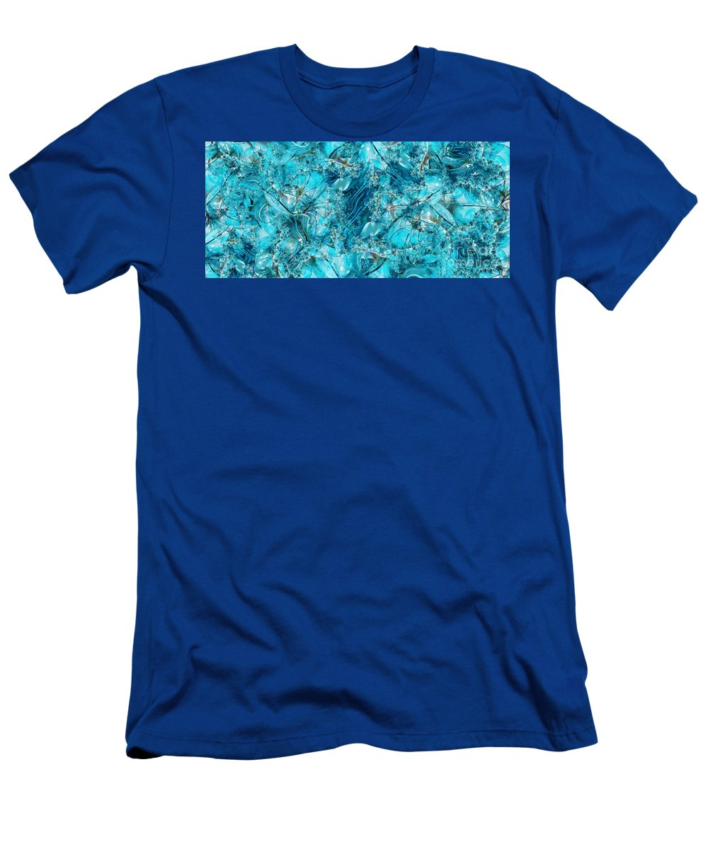 Collage T-Shirt featuring the digital art Glass Sea by Ron Bissett
