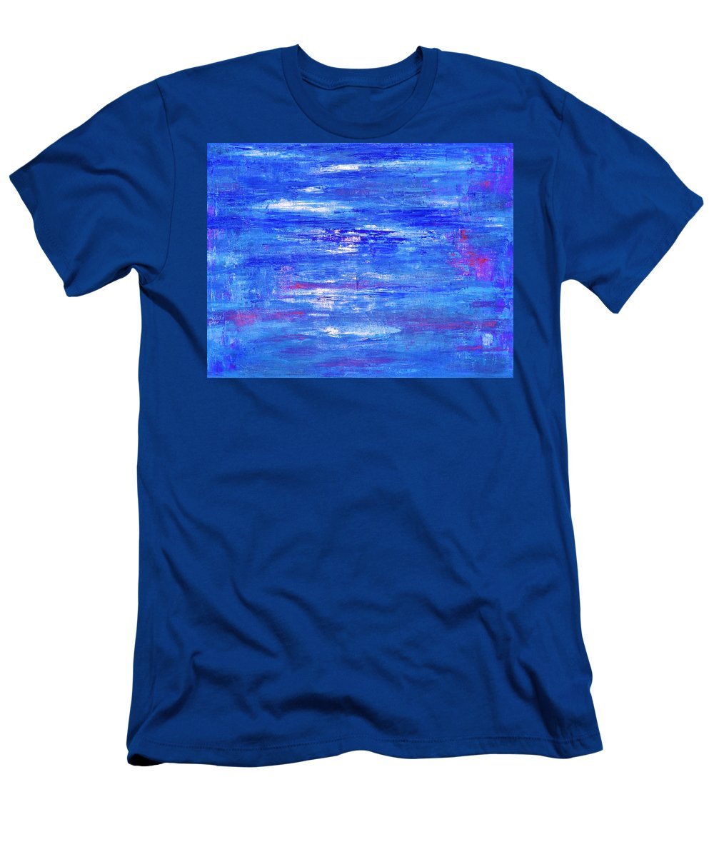 Marla Mcpherson Men's T-Shirt (Athletic Fit) featuring the painting Glints On The Water by Marla McPherson