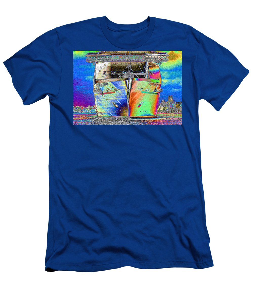 Cruise Ship Men's T-Shirt (Athletic Fit) featuring the photograph Going Cruising by Carol Groenen