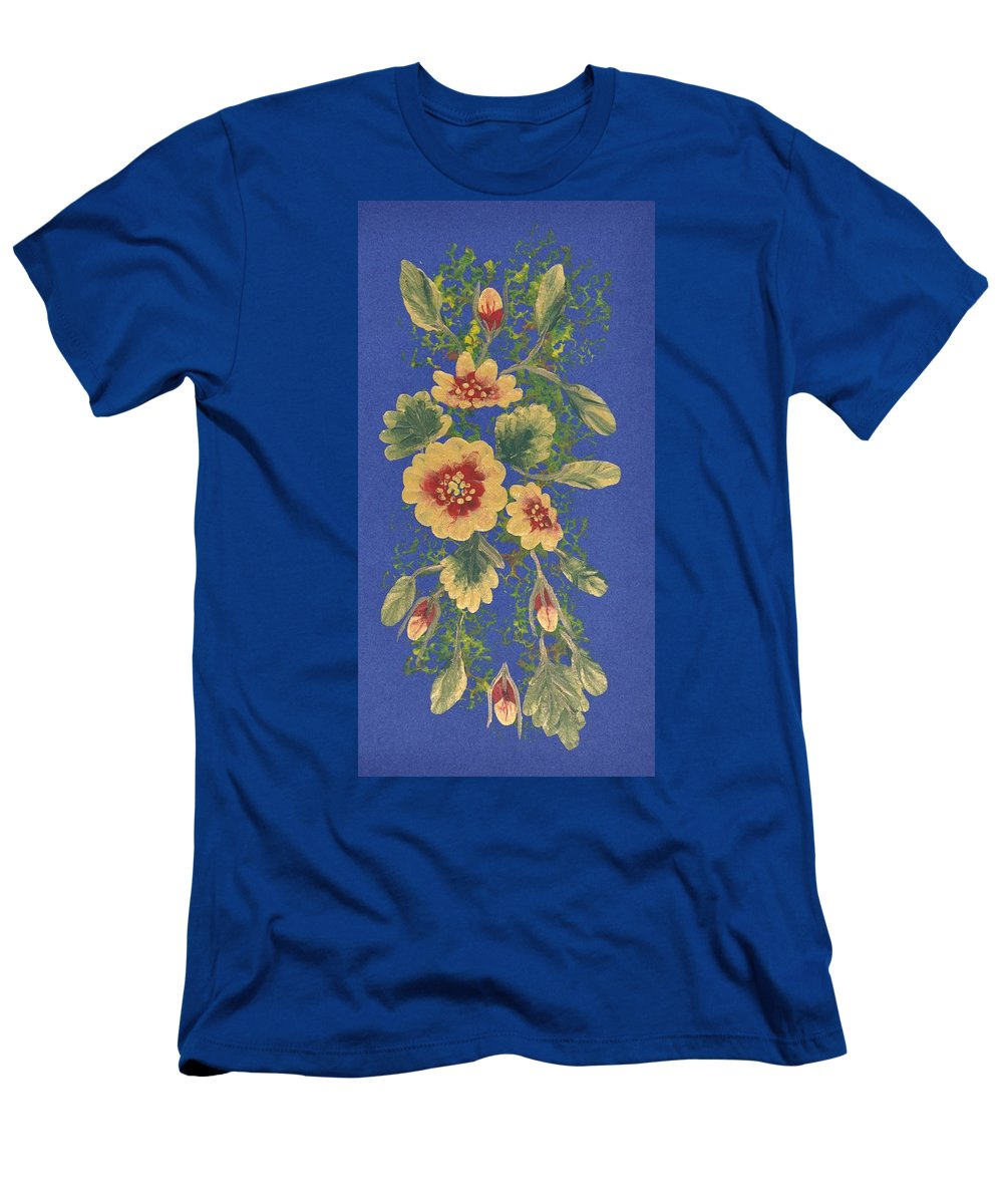 Decorations Men's T-Shirt (Athletic Fit) featuring the painting Golden Radiance by Georgeta Blanaru