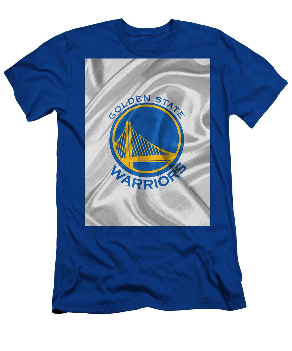 Golden State Warriors Men's T-Shirt (Athletic Fit) featuring the digital art Golden State Warriors by Afterdarkness