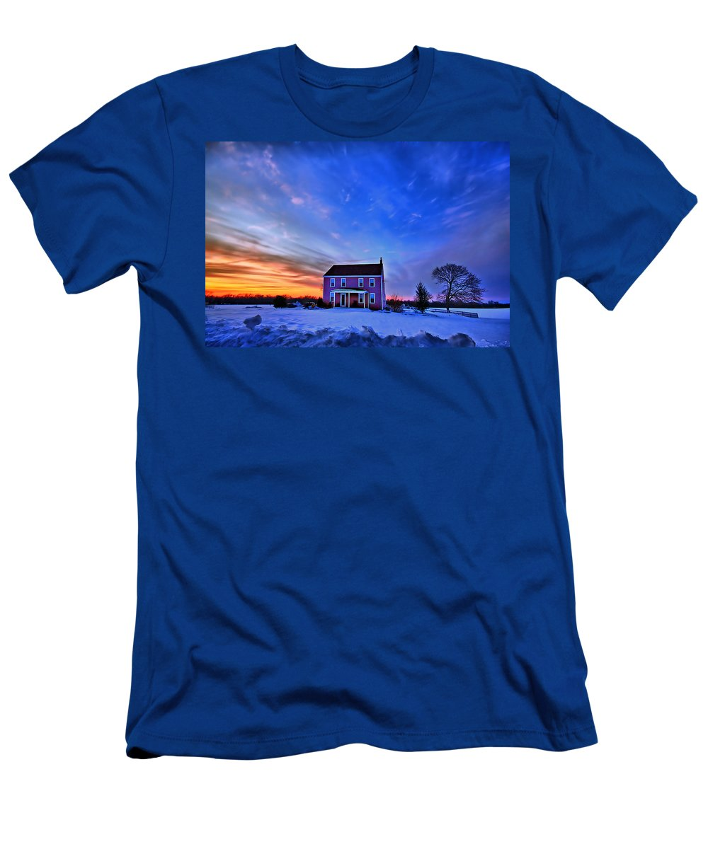 Cloud Men's T-Shirt (Athletic Fit) featuring the photograph Golden Touch by Evelina Kremsdorf
