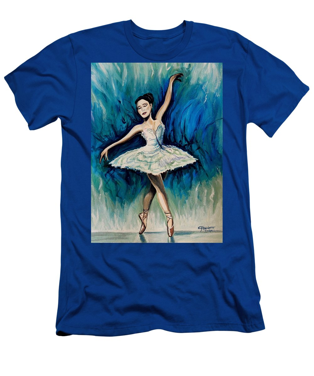 Ballerina Men's T-Shirt (Athletic Fit) featuring the painting Graceful Dance by Elizabeth Robinette Tyndall