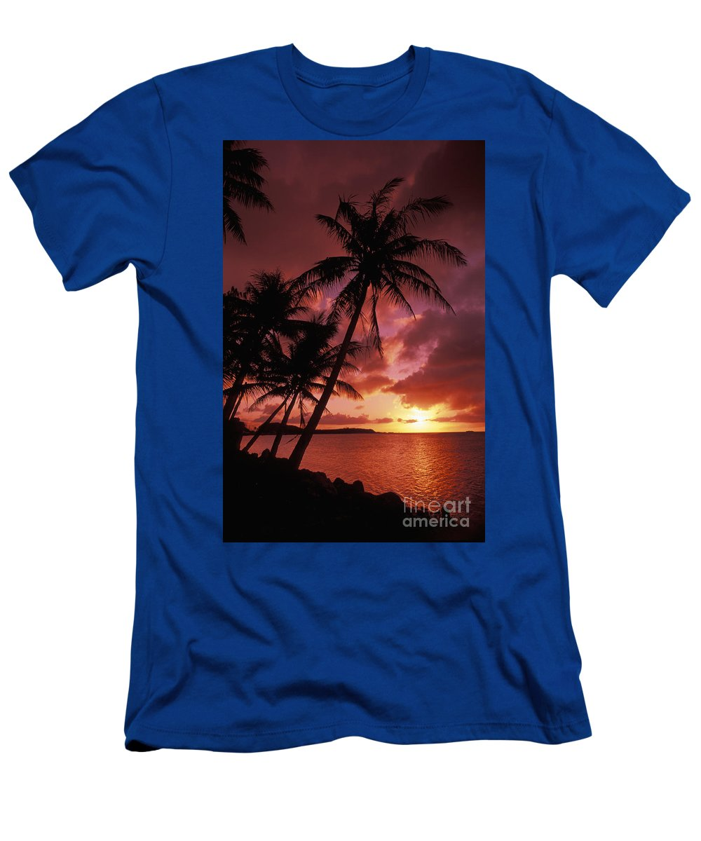 Bay Men's T-Shirt (Athletic Fit) featuring the photograph Guam, Tumon Bay by Bill Bachmann - Printscapes