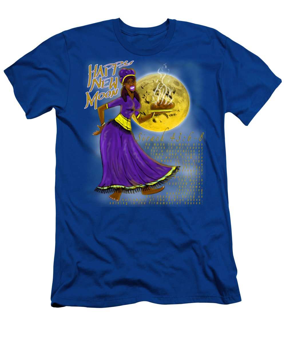 Israelite Men's T-Shirt (Athletic Fit) featuring the painting Happy New Moon Sirach 43 by Robert Watson