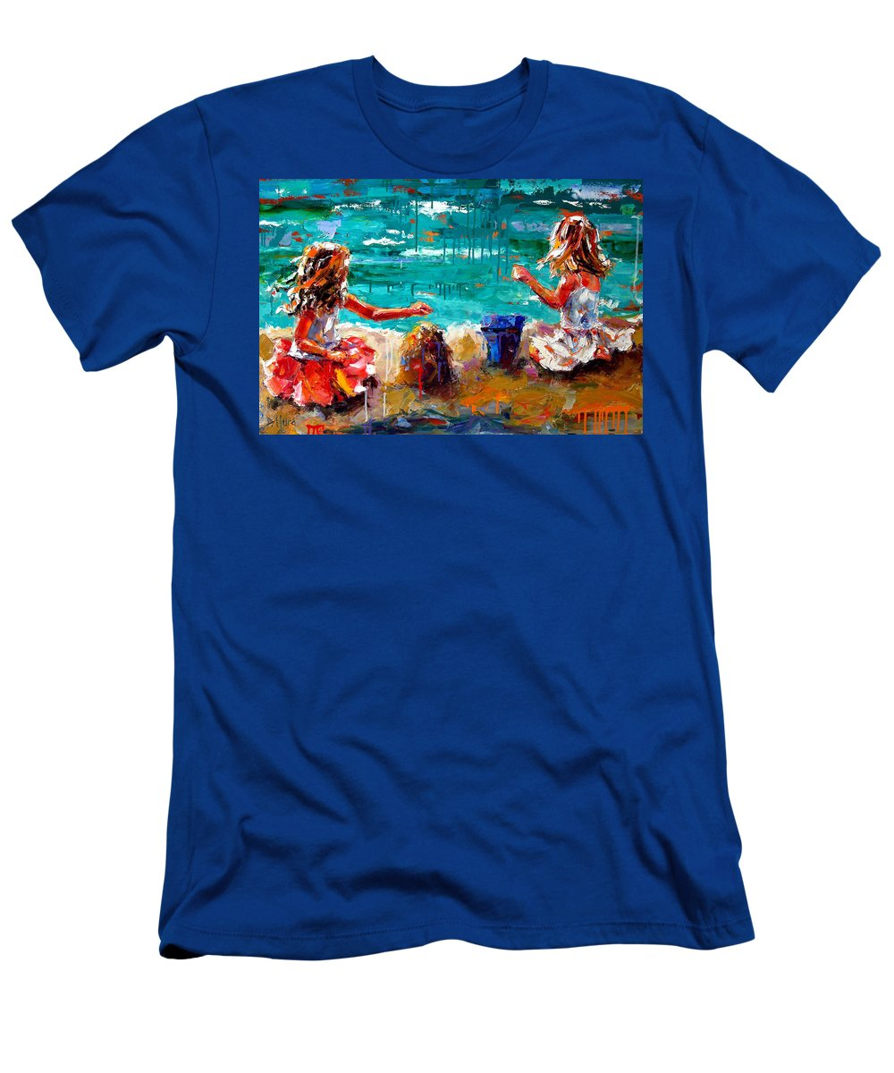 Seascape T-Shirt featuring the painting Her Blue Bucket by Debra Hurd