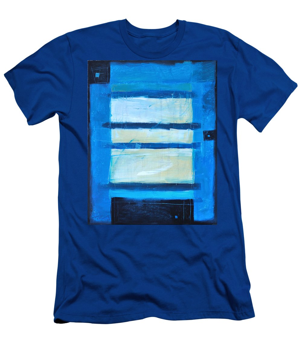Abstract Men's T-Shirt (Athletic Fit) featuring the painting Hidden Moon by Tim Nyberg