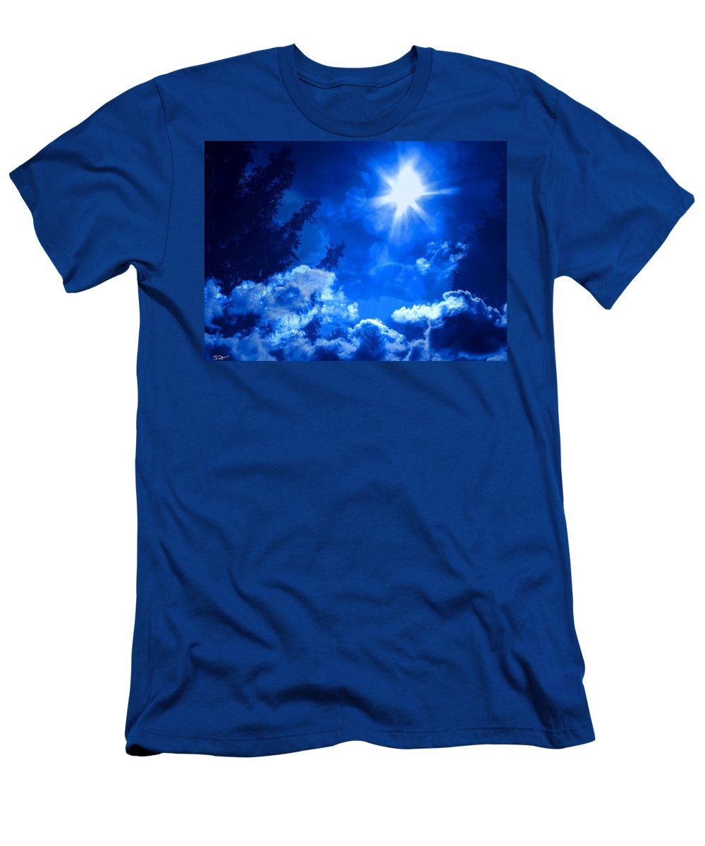 Sky Men's T-Shirt (Athletic Fit) featuring the photograph Higher by Abstract Angel Artist Stephen K