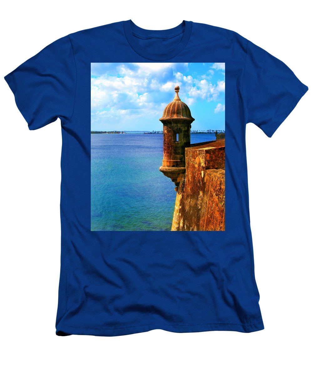 Fort Men's T-Shirt (Athletic Fit) featuring the photograph Historic San Juan Fort by Perry Webster