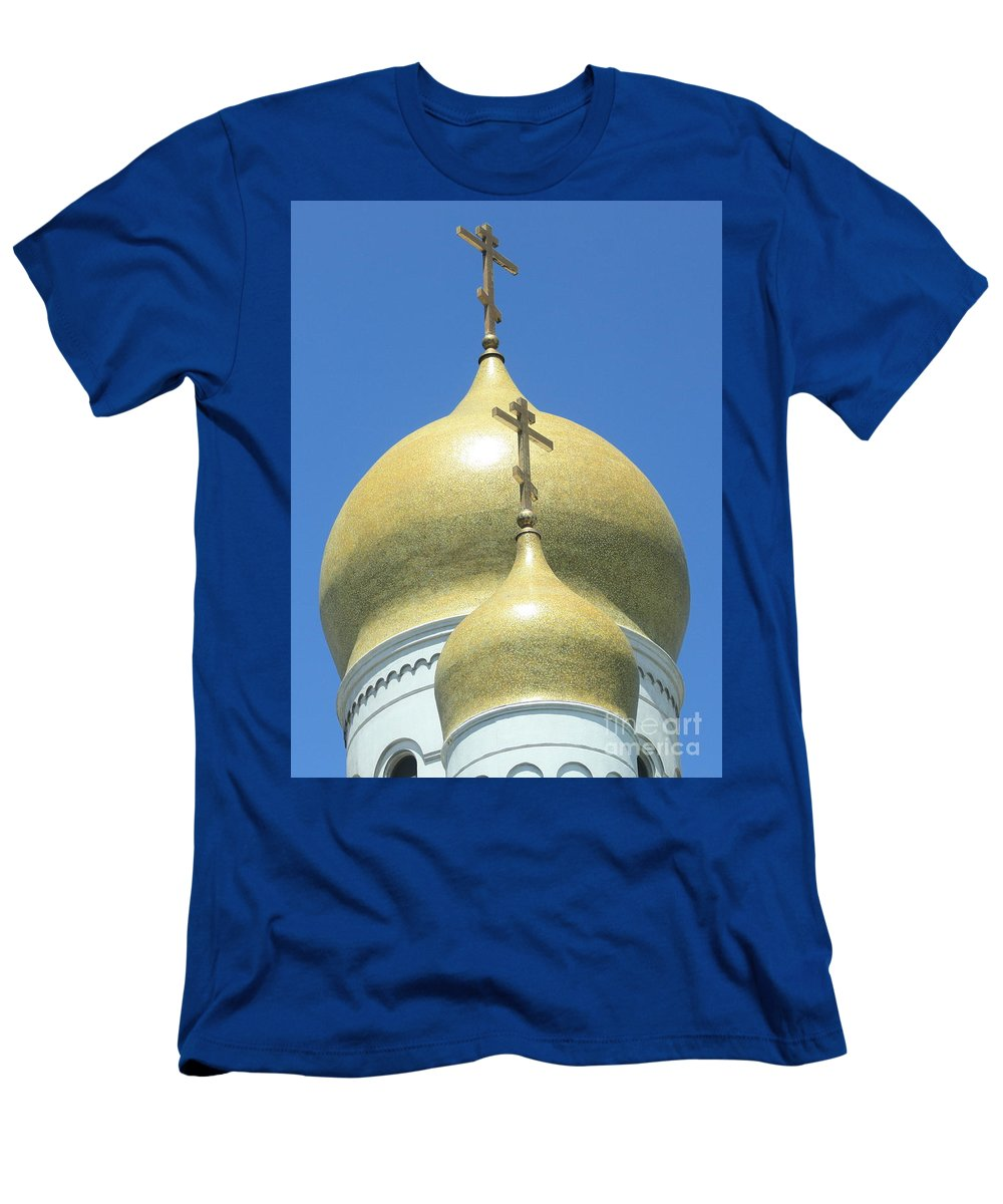Holy Virgin Cathedral Men's T-Shirt (Athletic Fit) featuring the photograph Holy Virgin Cathedral In San Francisco by Carol Groenen
