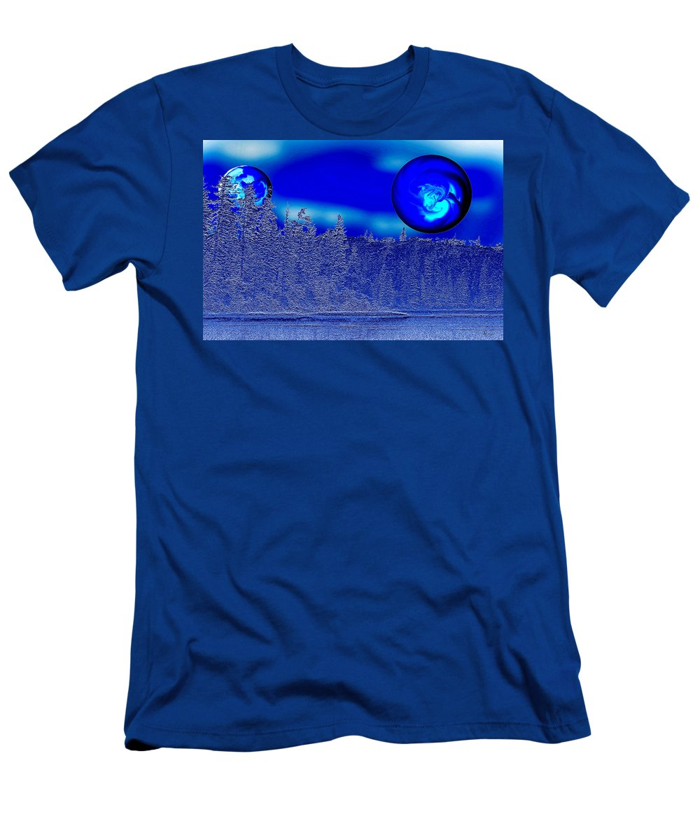 Blue Planet Men's T-Shirt (Athletic Fit) featuring the photograph Ice Skies by Andrea Lawrence