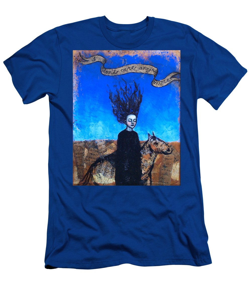 Men's T-Shirt (Athletic Fit) featuring the painting Idontcareanymore by Pauline Lim