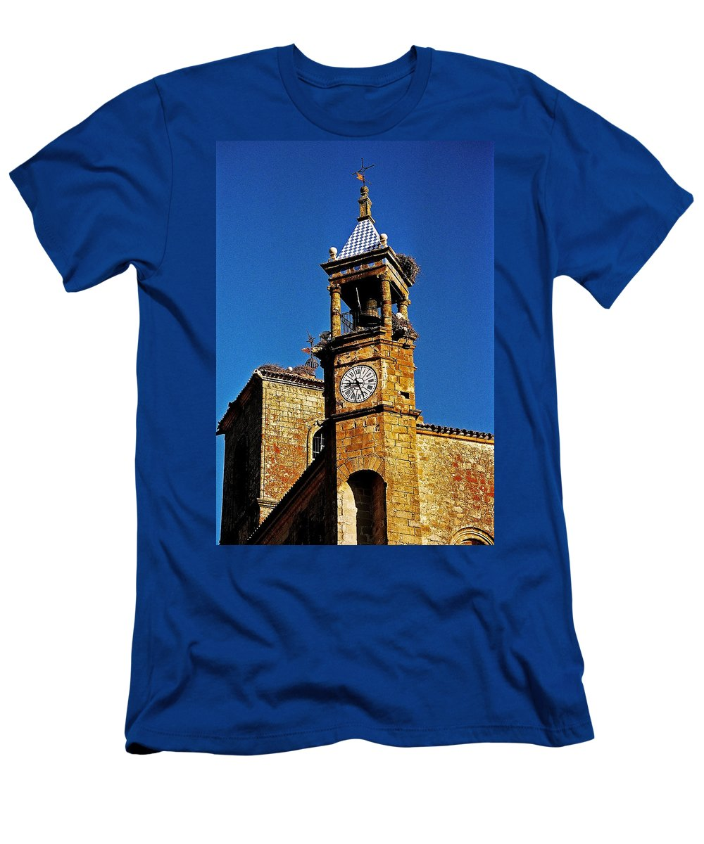 Europe Men's T-Shirt (Athletic Fit) featuring the photograph Iglesia De San Martin - Trujillo by Juergen Weiss