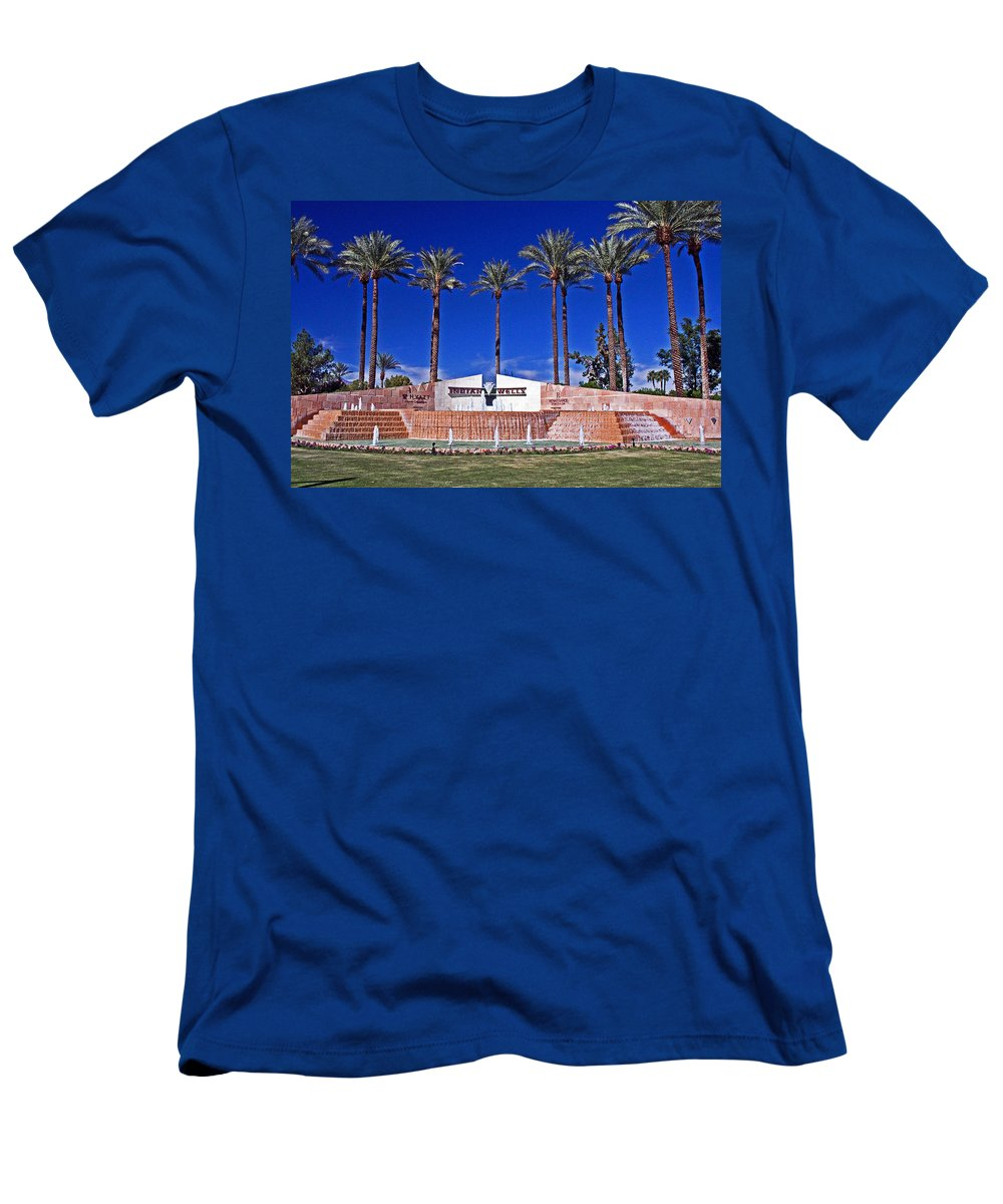 Palm Trees Men's T-Shirt (Athletic Fit) featuring the photograph Indian Wells by David Campbell
