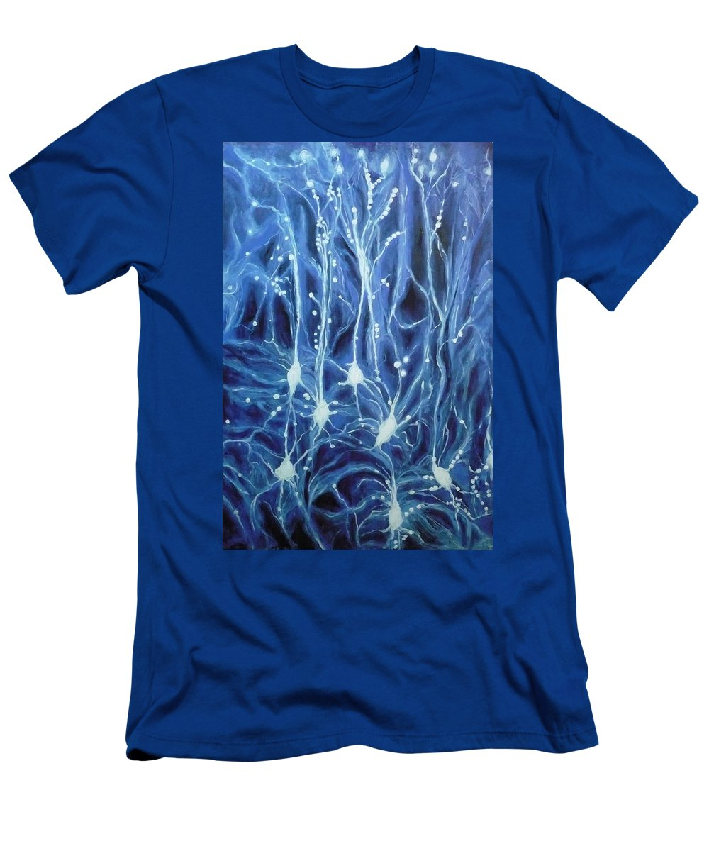 Brain Cell Men's T-Shirt (Athletic Fit) featuring the painting Inside The Brain by Ericka Herazo
