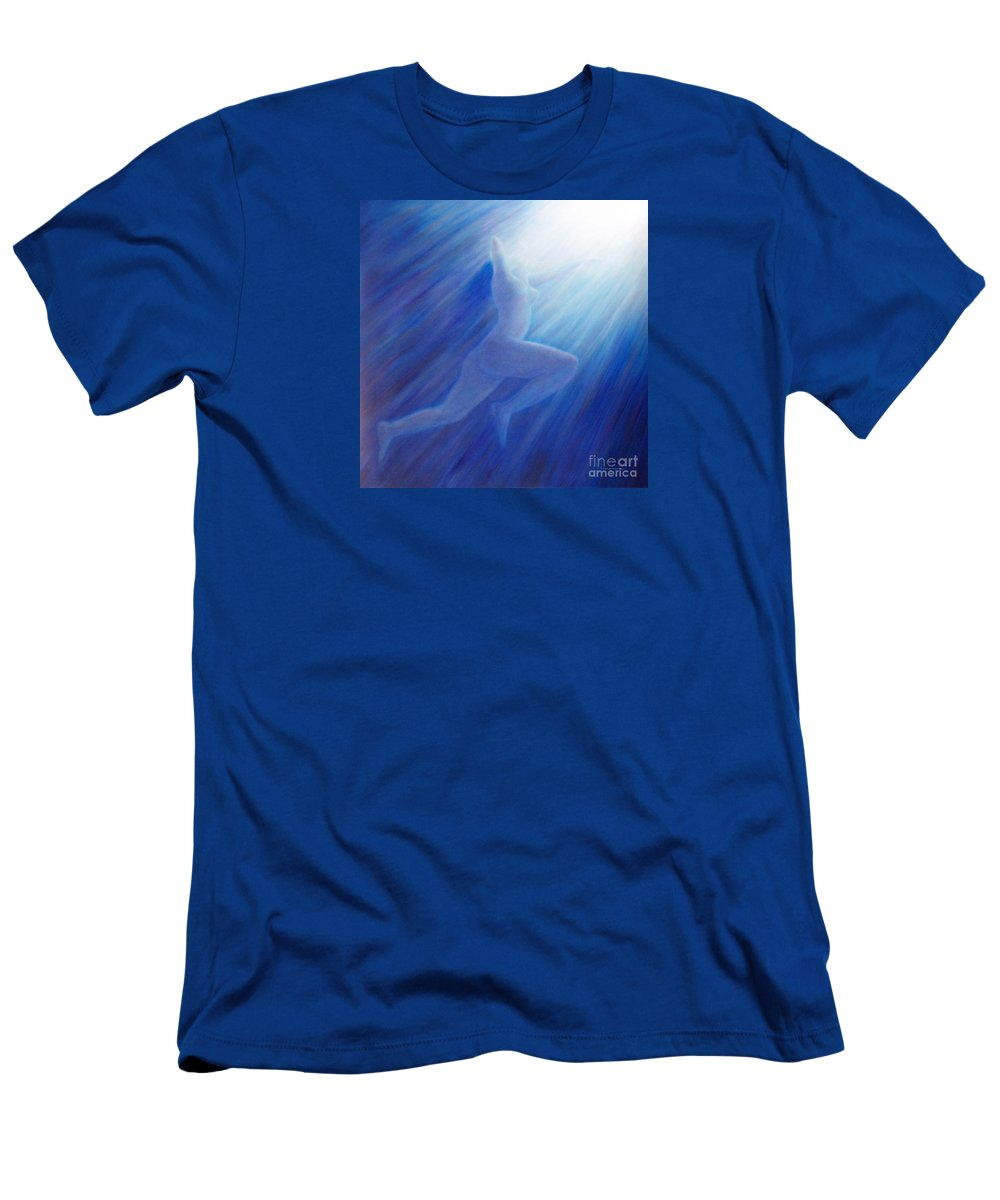 Spiritual T-Shirt featuring the painting Into The Light by Brian Commerford